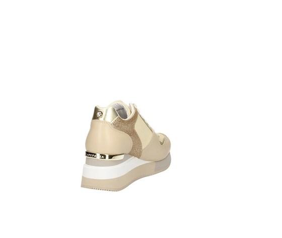 Apepazza sneakers donna harya con zeppa beige art. s0highrun07 glt 2