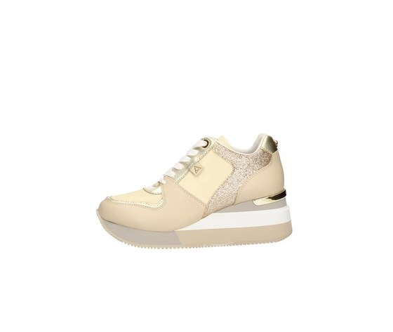 Apepazza sneakers donna harya con zeppa beige art. s0highrun07 glt 1