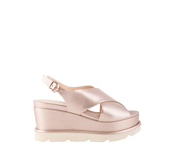 Sandalo Con Zeppone Fascia Ad Incrocio Con Cinturino Luciano Barachini art. EE102C