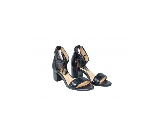 Apepazza magda sandalo tacco basso nero art. s0melody01 ner 3