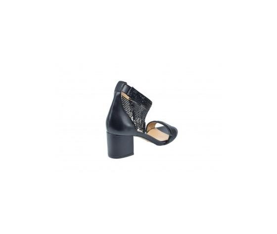 Apepazza magda sandalo tacco basso nero art. s0melody01 ner 2