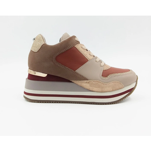 Apepazza Sneakers Donna Hilary Con Zeppa Blush art. F0HIGHRUN08 BLUSH