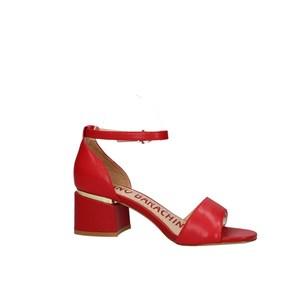 Sandalo Rosso Tacco Basso Luciano Barachini art. EE144O