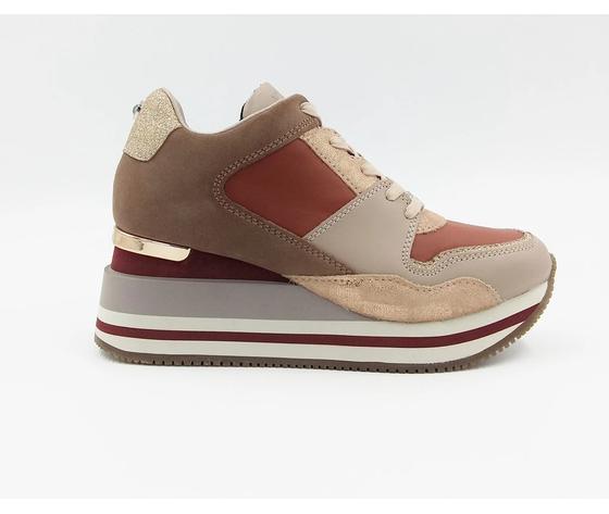 Apepazza sneakers donna hilary con zeppa blush art. f0highrun08 blush %283%29