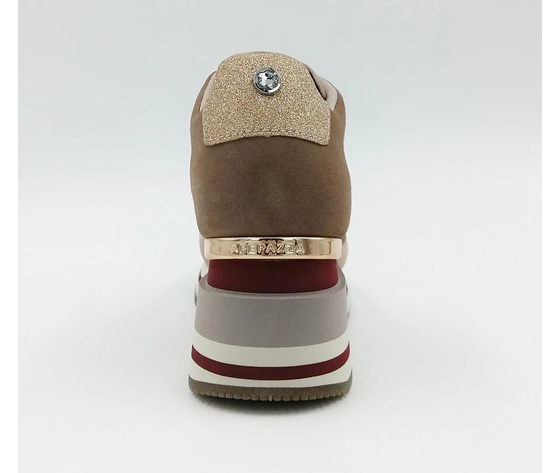 Apepazza sneakers donna hilary con zeppa blush art. f0highrun08 blush %282%29