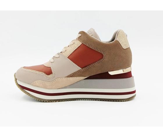 Apepazza sneakers donna hilary con zeppa blush art. f0highrun08 blush %281%29