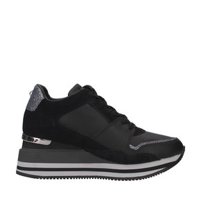 Apepazza Sneakers Donna Hilary Con Zeppa Nero art. F0HIGHRUN08 NER