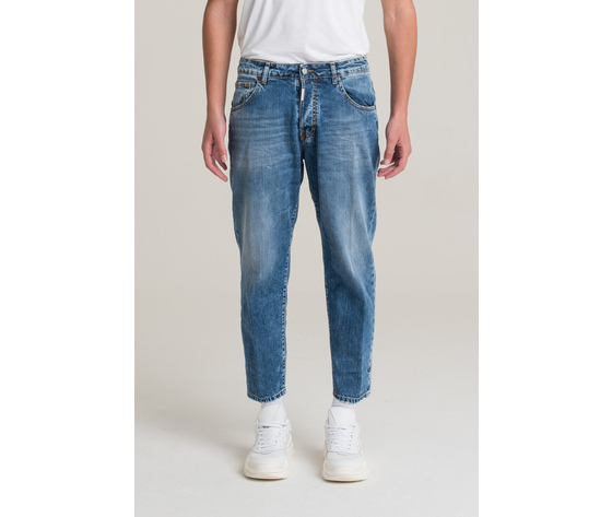 I'm brian jeans corto a gamba ampia uomo loose fit art. alex l1500