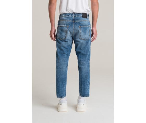 I'm brian jeans corto a gamba ampia uomo loose fit art. alex l1500 1