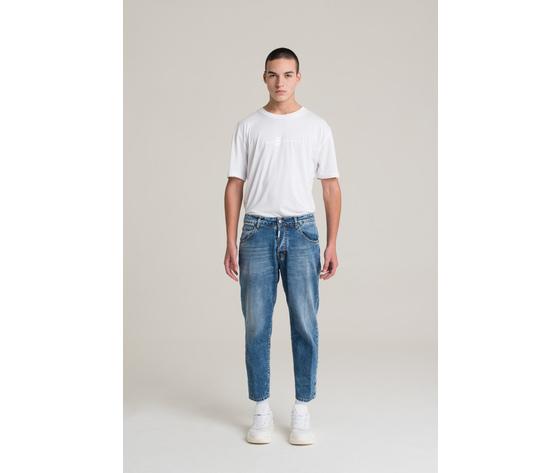 I'm brian jeans corto a gamba ampia uomo loose fit art. alex l1500 3