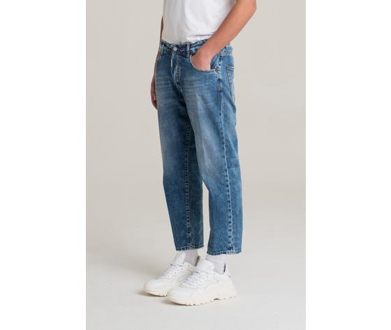 I'm brian jeans corto a gamba ampia uomo loose fit art. alex l1500 2