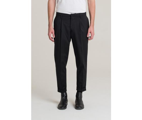 I'm brian pantalone uomo con risvolto nero art.pa1501 ner