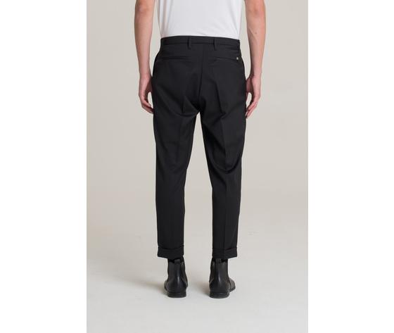 I'm brian pantalone uomo con risvolto nero art.pa1501 ner 1
