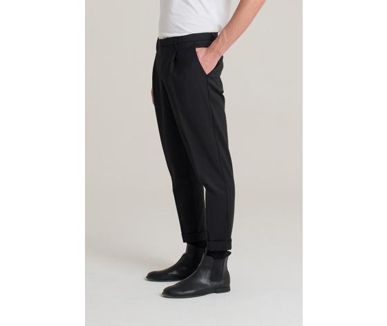 I'm brian pantalone uomo con risvolto nero art.pa1501 ner 2