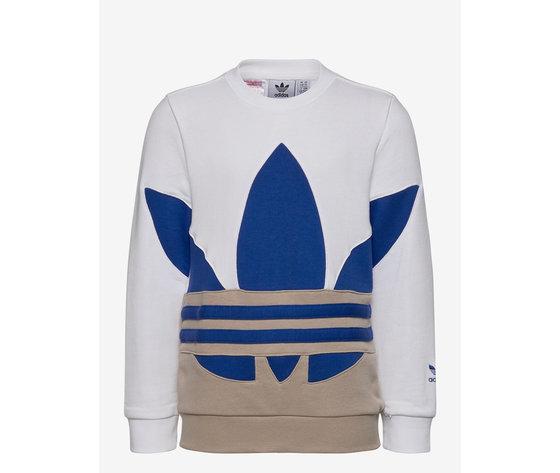 Maglia Maniche Lunghe Bambino Beige/Bianco Logo Blu Adidas Originals art. ADIGE1975