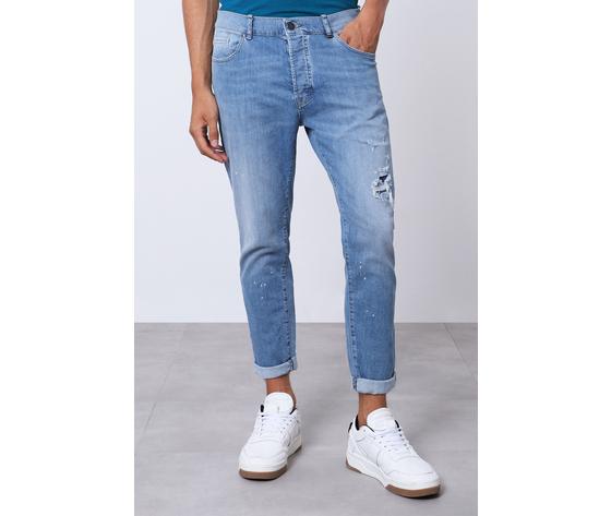 Imperial jeans blue uomo con strappi e schizzi art.p372mlud50