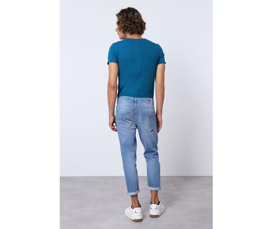 Imperial jeans blue uomo con strappi e schizzi art.p372mlud50 2
