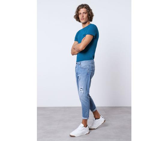 Imperial jeans blue uomo con strappi e schizzi art.p372mlud50 1