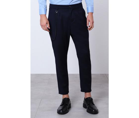 Imperial pantalone classico navy uomo con catena rimovibile art.pb51abz navy