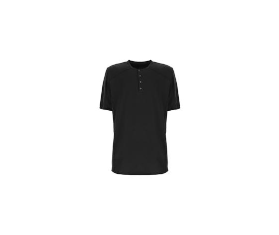 Imperial t shirt uomo nero con bottoni art.th11abjtd ner