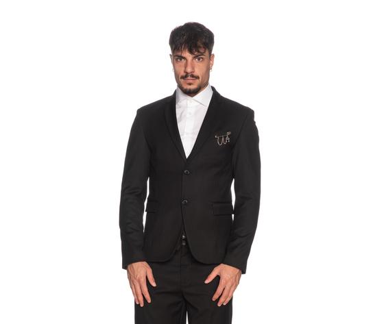 Giacca uomo imperial nera slim fit con dettaglio finitura tasca art. jzx1abz ner %282%29