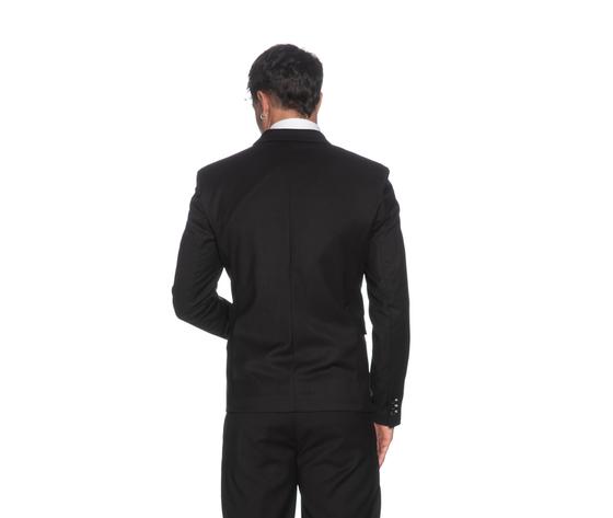 Giacca uomo imperial nera slim fit con dettaglio finitura tasca art. jzx1abz ner %281%29