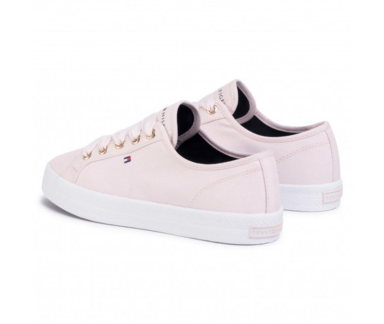 Tommy hilfiger scarpe donna in tela basse rosa essential nautical art . fw 1