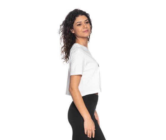 Tshirt nike crop bianca essential donna maglia corta sportswear art. bv6175 100 %283%29