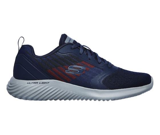 Scarpe uomo navy blu skechers verkona sneakers stringate art. 232004 nvcc