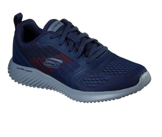 Scarpe uomo navy blu skechers verkona sneakers stringate art. 232004 nvcc 2