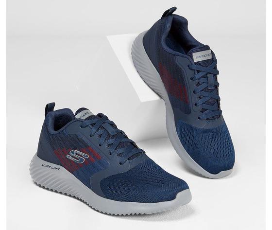 Scarpe uomo navy blu skechers verkona sneakers stringate art. 232004 nvcc 1