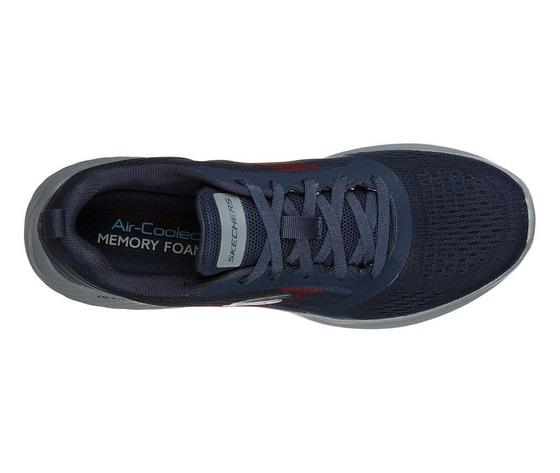 Scarpe uomo navy blu skechers verkona sneakers stringate art. 232004 nvcc 3