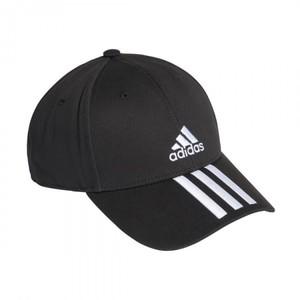 Cappello Adidas Nero Baseball 3 Stripes Strisce art. FK0894