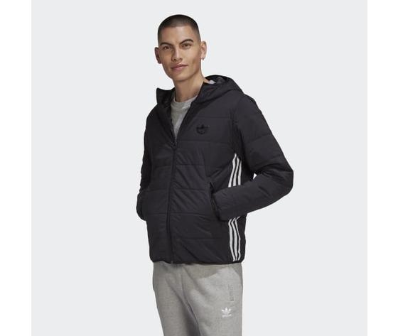 Giubbotto nero uomo adidas lightweight zip through trefoil giacca imbottita art. ge1342