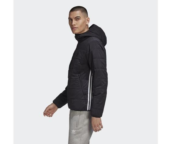 Giubbotto nero uomo adidas lightweight zip through trefoil giacca imbottita art. ge1342 1