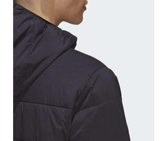 Giubbotto nero uomo adidas lightweight zip through trefoil giacca imbottita art. ge1342 3