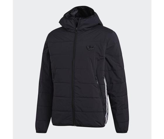 Giubbotto nero uomo adidas lightweight zip through trefoil giacca imbottita art. ge1342 5