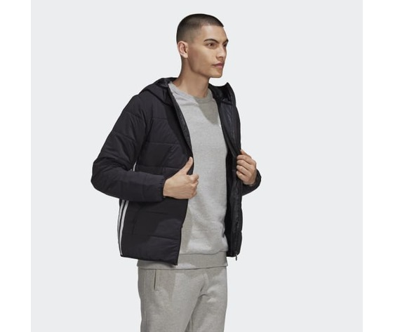 Giubbotto nero uomo adidas lightweight zip through trefoil giacca imbottita art. ge1342 4