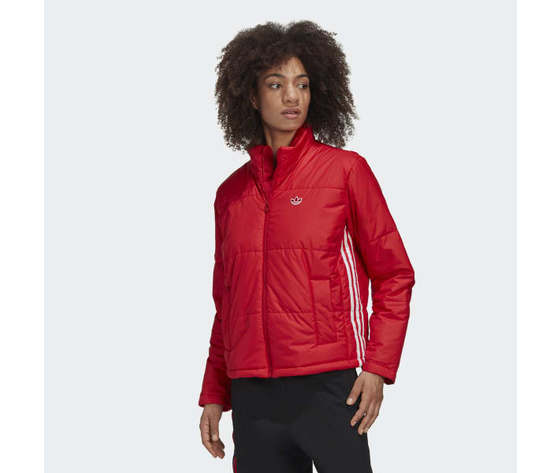 Short puffer donna rosso giacca imbottita corta adidas originals art. gk8556