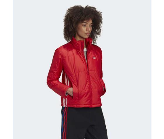 Short puffer donna rosso giacca imbottita corta adidas originals art. gk8556 4