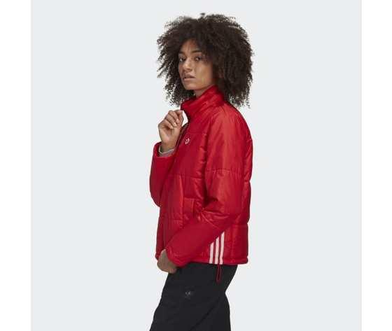 Short puffer donna rosso giacca imbottita corta adidas originals art. gk8556 2