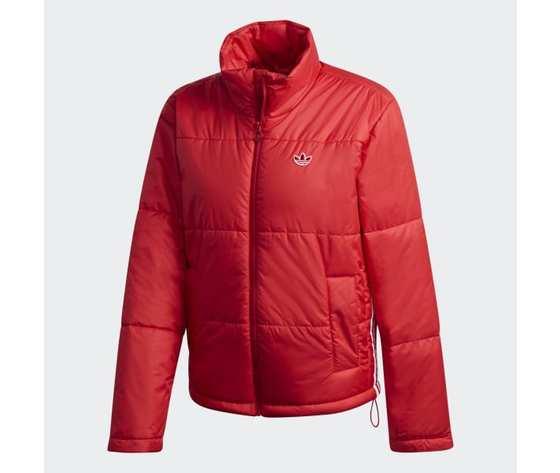 Short puffer donna rosso giacca imbottita corta adidas originals art. gk8556 5