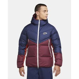 Giubbotto Uomo Navy Blue Bordeaux Con Cappuccio Giacca Nike Sportswear art. CU4404 410