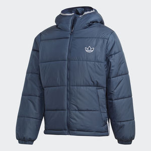 Bomber Navy Blue Uomo Con Cappuccio Padded Hooded Puffer Adidas Originals art. GE1292