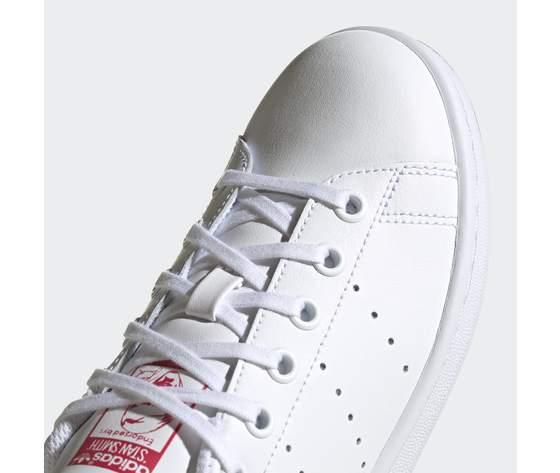 Scarpe bambina bianche adidas stan smith stampa tallone floreale rosa art. fv7405 5