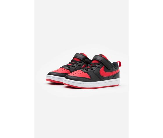 Carpe bambino rosso nero chiusura strappo e lacci nike court borough art. bq5453 007 %282%29