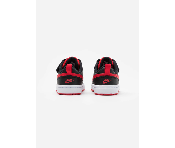 Carpe bambino rosso nero chiusura strappo e lacci nike court borough art. bq5453 007 %285%29