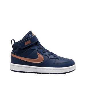 Scarpe Bambino Blu Nike Baskets Court Borough Mid 2 art. CD7783 400