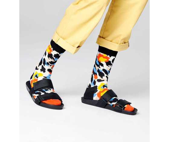 Calze donna fantasia leopardato happy socks leopard sock art. nle01 1900 %282%29