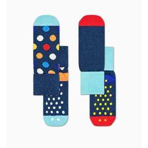 Calze Bambino Antiscivolo Fantasia Pallini Variopinti Tinta Unita 2-Pack Big Dot Anti-Slip Socks art. KBDO19 6500